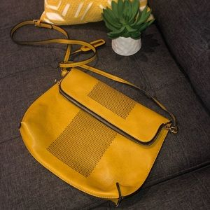 Yellow Perforated Crossbody